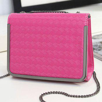Metal Trimmed Chains  Crossbody Bag