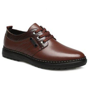 Stitching PU Leather Casual Shoes