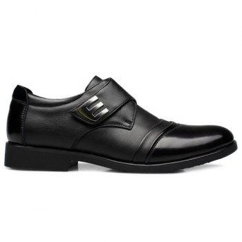 Faux Leather Metal Formal Shoes - BLACK 43