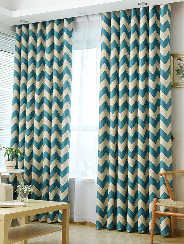 Vague Stripe Design Sun-Shading Blackout Curtain - Pers 100*200CM