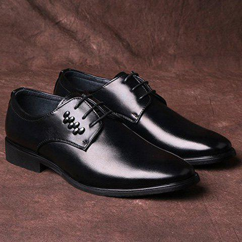 Studded Faux Leather Formal Shoes - BLACK 41
