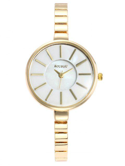SOUSOU Alloy Strap Wrist Watch - GOLD/WHITE