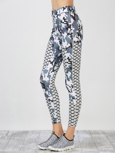 Camouflage Pattern Running Leggings - COLORMIX S