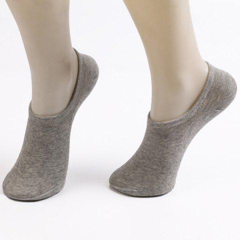 Fitted Skidproof Loafer Socks - LIGHT GRAY