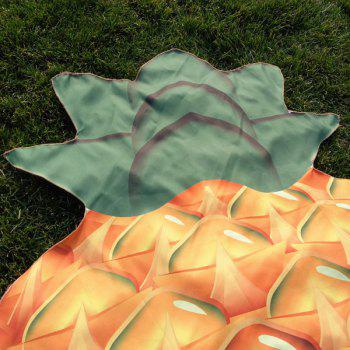 Ananas Forme Plage Throw - Orange