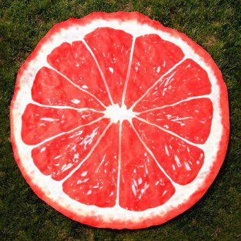 Round Lemon Slice Shape Beach Throw - RED ONE SIZE