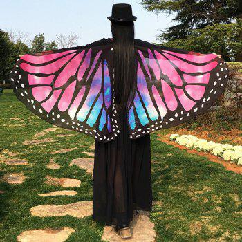 Butterfly Wing Cape Chiffon Scarf with Straps