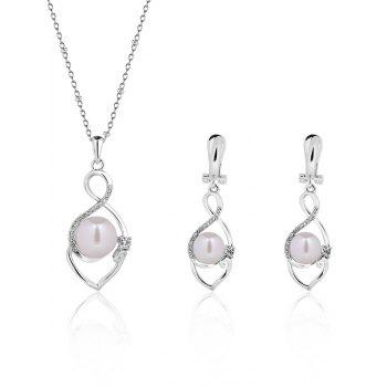 Faux Pearl Infinity Jewelry Set