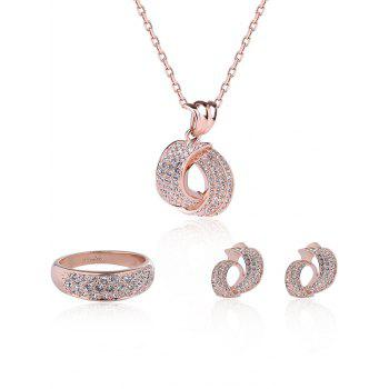 Plated Rhinestoned Jewelry Set