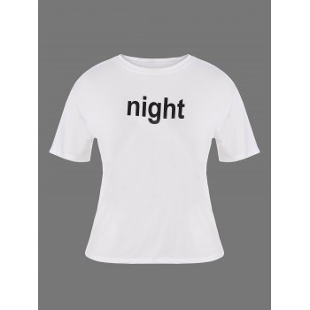 Plus Size Night Graphic T-Shirt