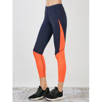 Sporty Colorblock Capri Running Leggings