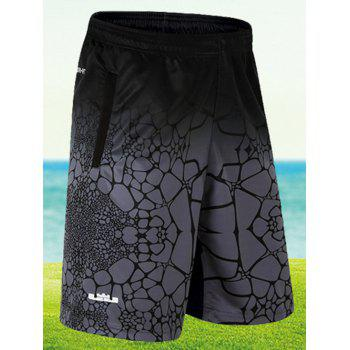 Taille élastique Ombre Shorts Print Board