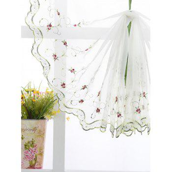 Roman Rose Embroidery Sheer Screening Tull Curtain - 80*100CM 80*100CM