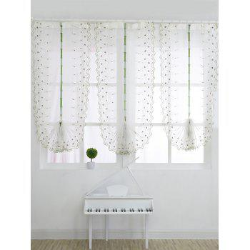 Roman Rose Embroidery Sheer Screening Tull Curtain - WHITE 80*200CM