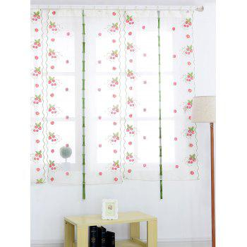 Roman Style Strawberry Embroidery Sheer Tulle Curtain - 80*100CM 80*100CM