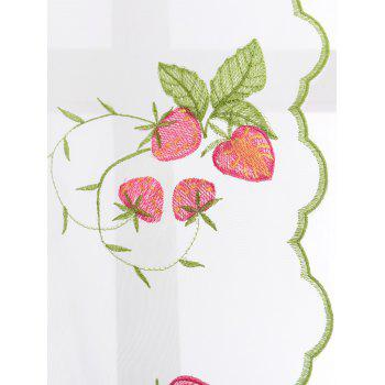 Roman Style Strawberry Embroidery Sheer Tulle Curtain - 80*200CM 80*200CM