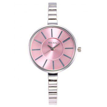 SOUSOU Alloy Strap Wrist Watch
