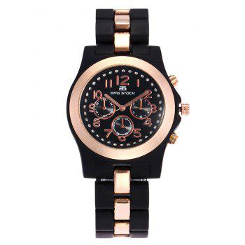 BRG STOCK Alloy Strap Number Rhinestone Watch