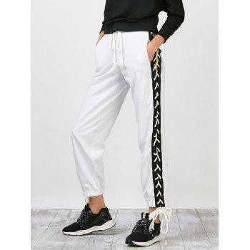 Side Lace Up Jogger Pants