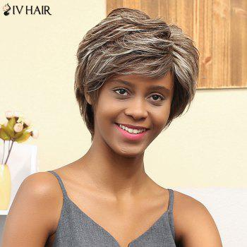 Siv Hair Short Oblique Bang Curly Human Hair Wig
