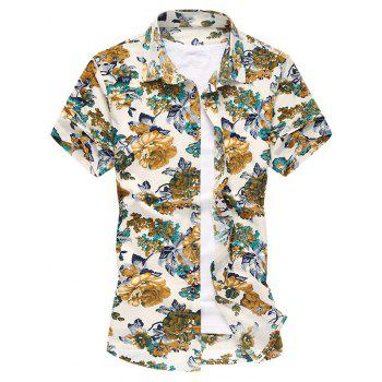 Colorful Flowers Short Sleeve Shirt