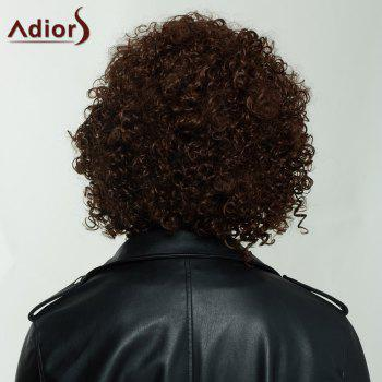 Adiors Shaggy Short Side Part Curly Synthetic Wig -  BROWN