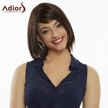 Elegant Mixed Color Synthetic Medium Straight Capless Wig For Women