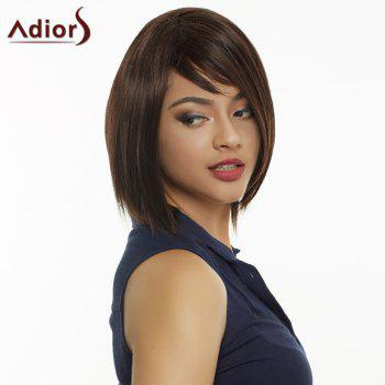 Elegant Mixed Color Synthetic Medium Straight Capless Wig For Women -  COLORMIX