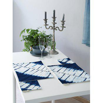 Natural Indigo In Dyes Print Placemat and Cup Mat