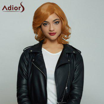 Adiors Short Side Bang Fluffy Curly Colormix Synthetic Wig