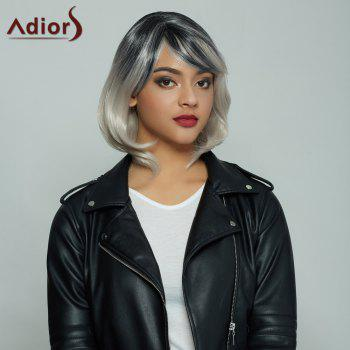 Elegant Medium Side Bang Fluffy Wavy Synthetic Mixed Color Women's Wig