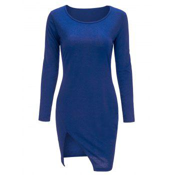 Slit Mini Long Sleeve Bodycon T-Shirt Dress