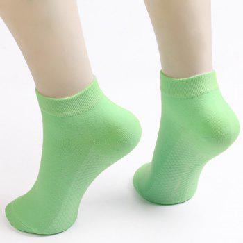 Soothing Massage Bottom Plain Socks - LIGHT GREEN LIGHT GREEN
