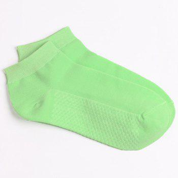 Soothing Massage Bottom Plain Socks -  LIGHT GREEN