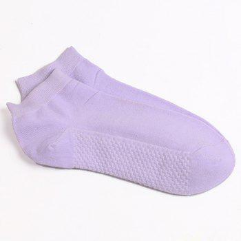 Soothing Massage Bottom Plain Socks - LIGHT PURPLE