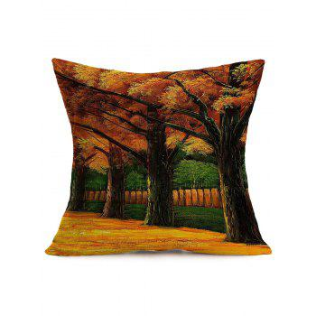 Autumn Landscape Painting Cotton Cloth Sofa Pillow Case