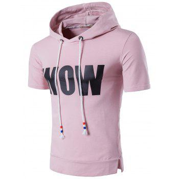 Graphic Drawstring Hooded T-Shirt