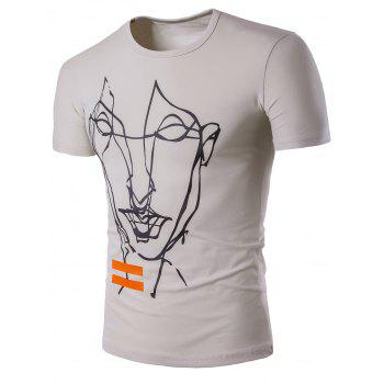 Hand Painting Short Sleeve T-Shirt