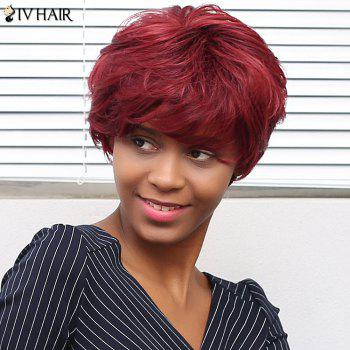 Siv Hair Curly Short Full Bang Human Hair Wig