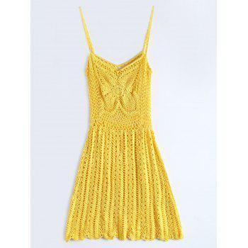 Spaghetti Strap Crochet Cover-Up Dress