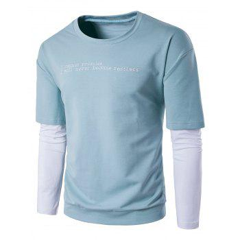 Two Tone Sweatshirt with Double Sleeve