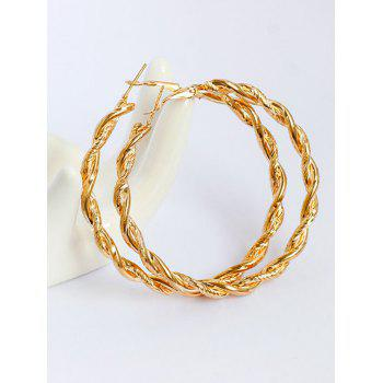 Braid Alloy Big Hoop Earrings