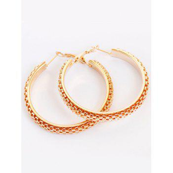 Tiny Honeycomb Design Hoop Earrings