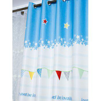 Cartoon Owl Shading Blackout Window Curtain - Azur 150*200CM