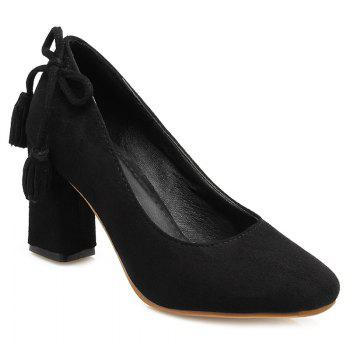 Tassels Sqaure Toe Pumps