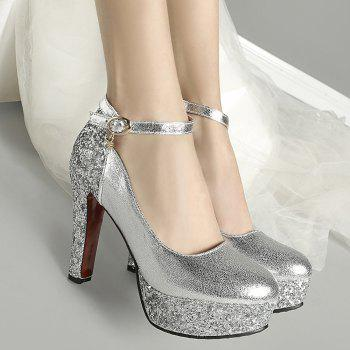 Metallic Color Glitter Pumps