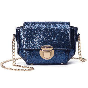 Sequin Push Lock Cross Body Bag
