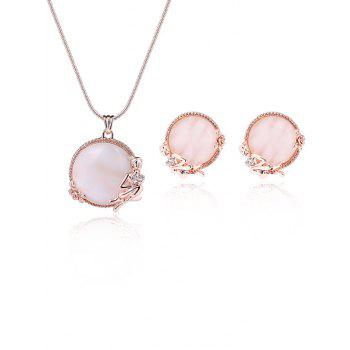 Artificial Gemstone Angel Rose Embellished Jewelry Set