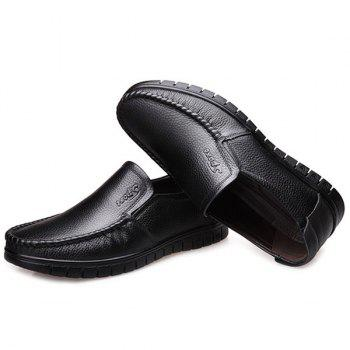 Elastic Band Stitching Casual Shoes - BLACK 41