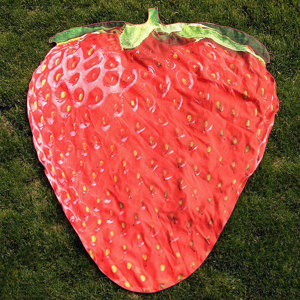 Strawberry Shape Beach Throw Cover - RED ONE SIZE